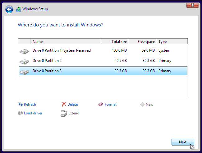 Dual booting windows 10 with windows 7 for Installing windows