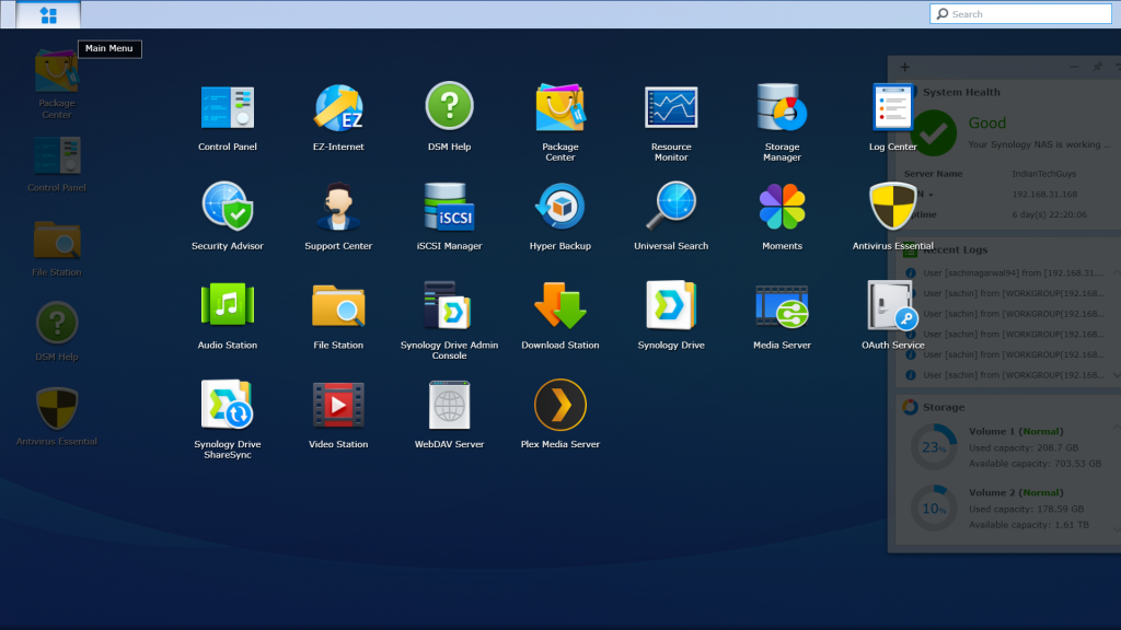 Synology Package Manager